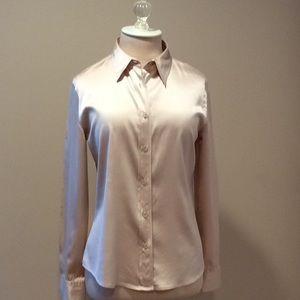 Silk satin finish button down blouse